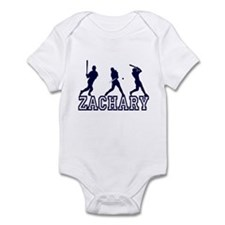 Baseball Zachary Personalized Infant Bodysuit