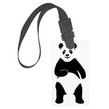 panda bear Large Luggage Tag