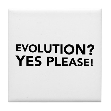 Evolution? Yes Please! Tile Coaster
