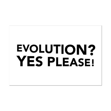 Evolution? Yes Please! Mini Poster Print