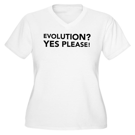 Evolution? Yes Please! Women's Plus Size V-Neck T-