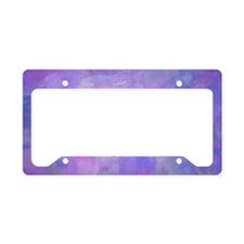 Cerise rose on pink and purpl License Plate Holder