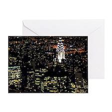 Chrysler Building at night, New York Greeting Card