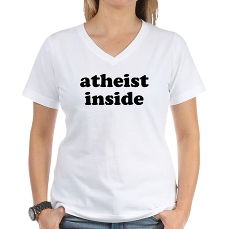 Atheist Inside Women's V-Neck T-Shirt