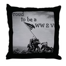 Proud to be a WW 2 Vet Throw Pillow