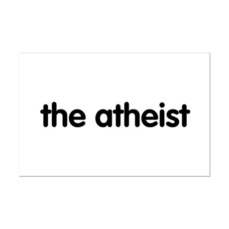 The Atheist Mini Poster Print