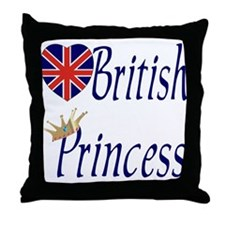 British Princess Throw Pillow