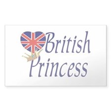 British Princess Rectangle Decal