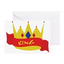 King Crown Ribbon Greeting Card