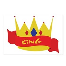 King Crown Ribbon Postcards (Package of 8)