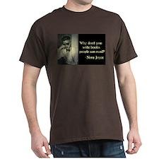 Joyce Quote Brown T-Shirt