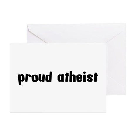 Proud Atheist Greeting Cards (Pk of 10)