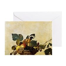 Caravaggios Basket of Fruit Greeting Card