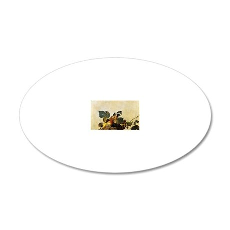 Caravaggios Basket of Fruit 20x12 Oval Wall Decal