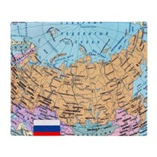 MAP OF RUSSIA Throw Blanket