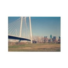 Margaret Hunt Hill bridge, Dallas Rectangle Magnet