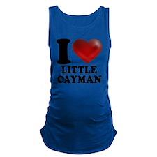 I Heart Little Cayman Maternity Tank Top
