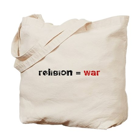 Religion is War Tote Bag