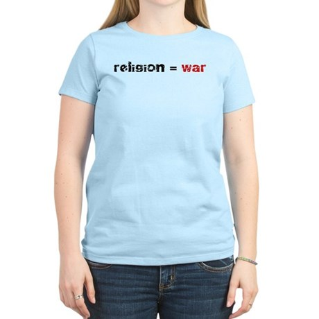 Religion is War Women's Light T-Shirt