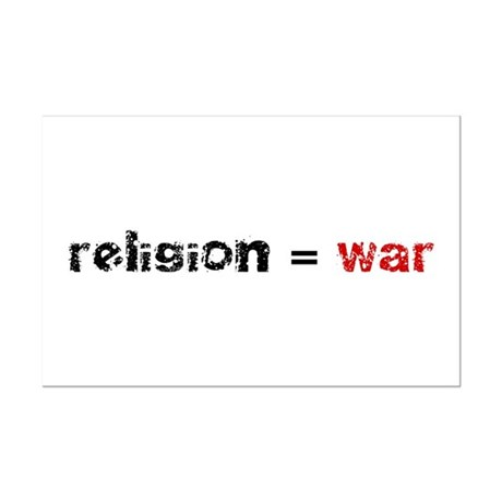 Religion is War Mini Poster Print
