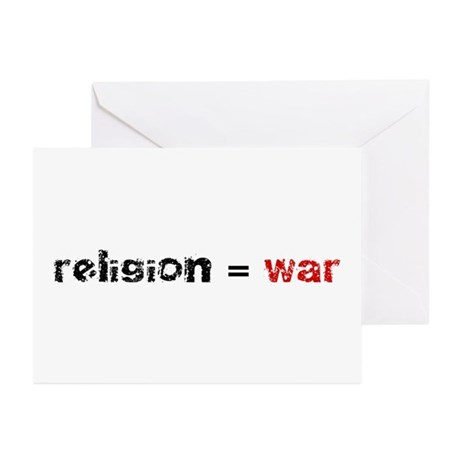 Religion is War Greeting Cards (Pk of 10)