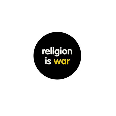 Religion is War Mini Button
