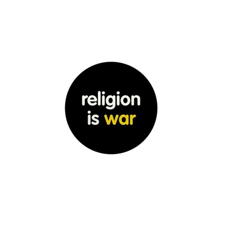 Religion is War Mini Button (10 pack)