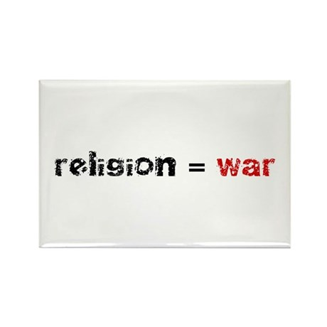 Religion is War Rectangle Magnet (100 pack)