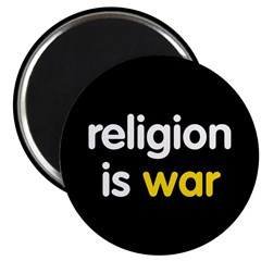 "Religion is War 2.25"" Magnet (10 pack)"