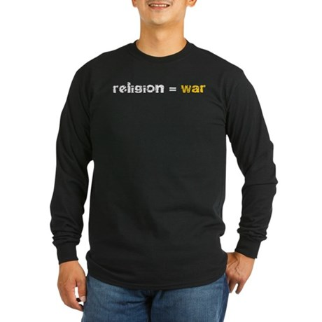 Religion is War Long Sleeve Dark T-Shirt