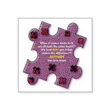 """Autism Have A Heart Square Sticker 3"""" x 3"""""""