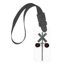 railroad crossing Small Luggage Tag