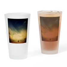 The trees, birds and light play in  Drinking Glass