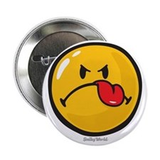 "Detest Smiley 2.25"" Button"