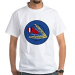Giant Sling Shot (Blue) White T-Shirt
