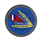 Giant Sling Shot (Blue) Wall Clock