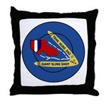 Giant Sling Shot (Blue) Throw Pillow
