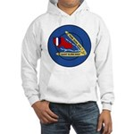 Giant Sling Shot (Blue) Hooded Sweatshirt