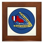 Giant Sling Shot (Blue) Framed Tile