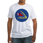 Giant Sling Shot (Blue) Fitted T-Shirt