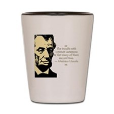 Lincoln Quote Shot Glass