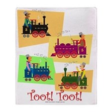 Toot Toot Throw Blanket