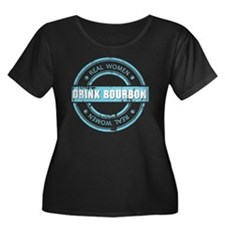 Real Wom Women's Plus Size Dark Scoop Neck T-Shirt