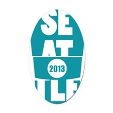 Seattle 2013 Oval Car Magnet