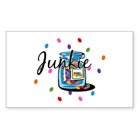 Jelly Bean Junkie Rectangle Sticker
