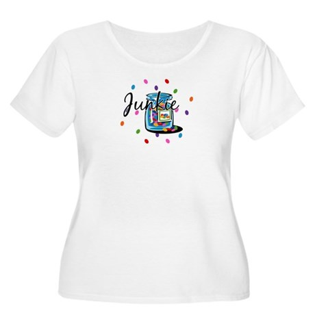 Jelly Bean Junkie Women's Plus Size Scoop Neck T-S