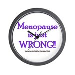 Menopause is Wrong! Wall Clock