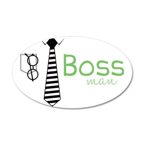 Boss Man 35x21 Oval Wall Decal
