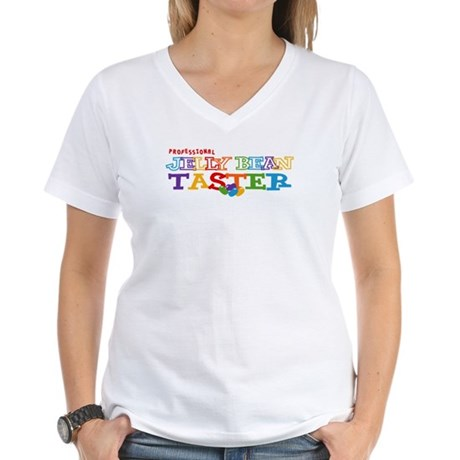 Jelly Bean Taster Women's V-Neck T-Shirt