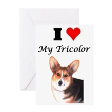 I Love my Tricolor Greeting Card